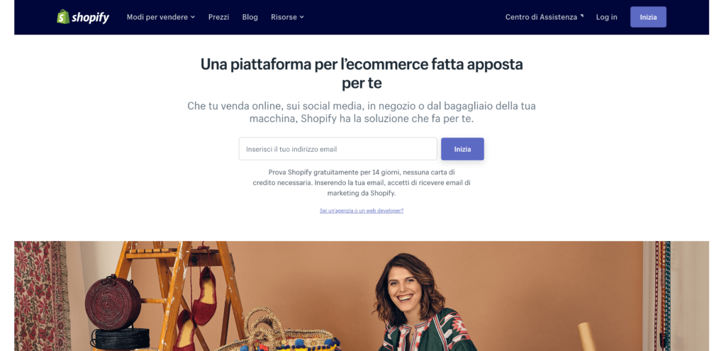 guida per aprire un ecommerce in Shopify