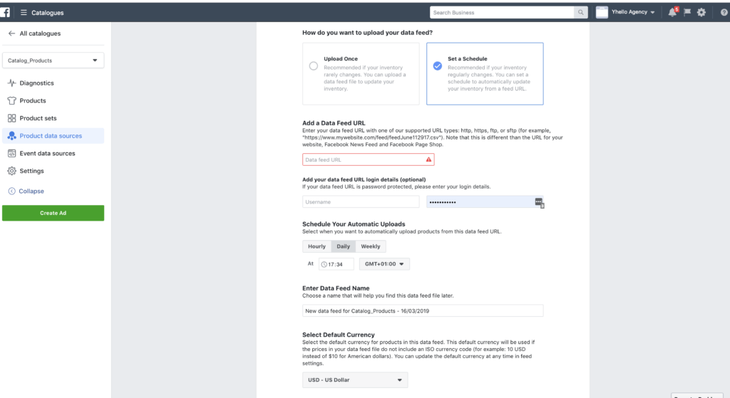 installare facebook in shopify