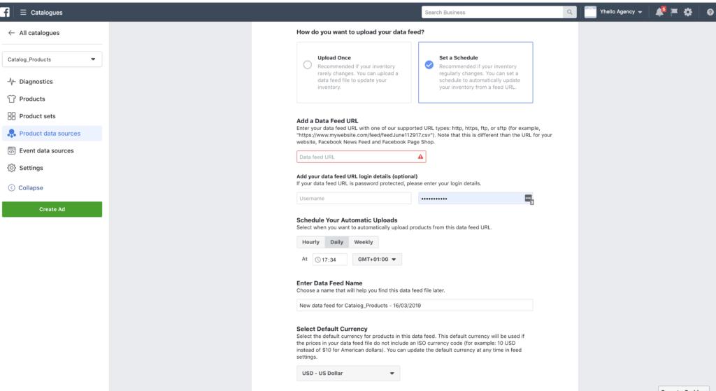 installare facebook in shopify