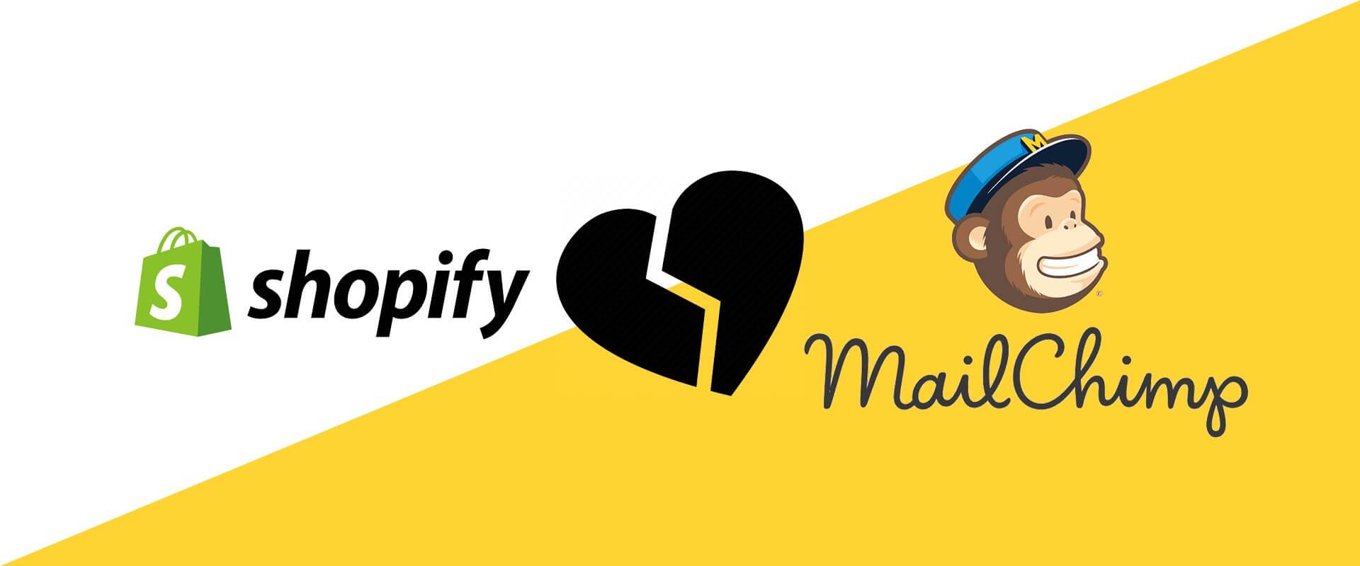 mailchimp rimuove app da shopify