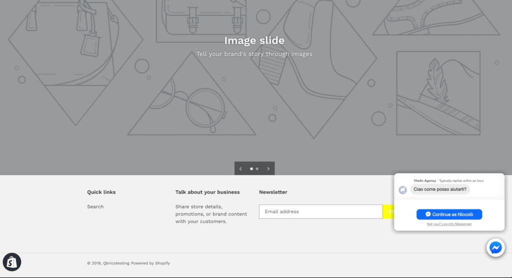 come faccio a modificare il footer in Shopify
