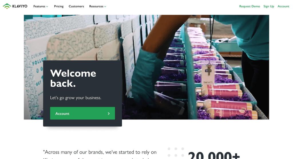 Klaviyo Mailchimp Email Marketing per Shopify