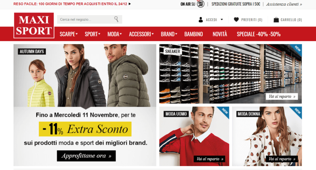 maxisport ecommerce